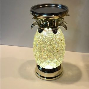 Bath & Body works Pineapple glitter candle holder